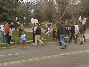 Protesters En Route