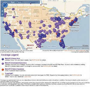 MetroPCS Coverage Map (click to enlarge)