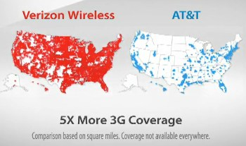 Stop The Cap Cell Phone Follies ATT Sues Verizon Over G Map T - Us cellular coverage map vs verizon