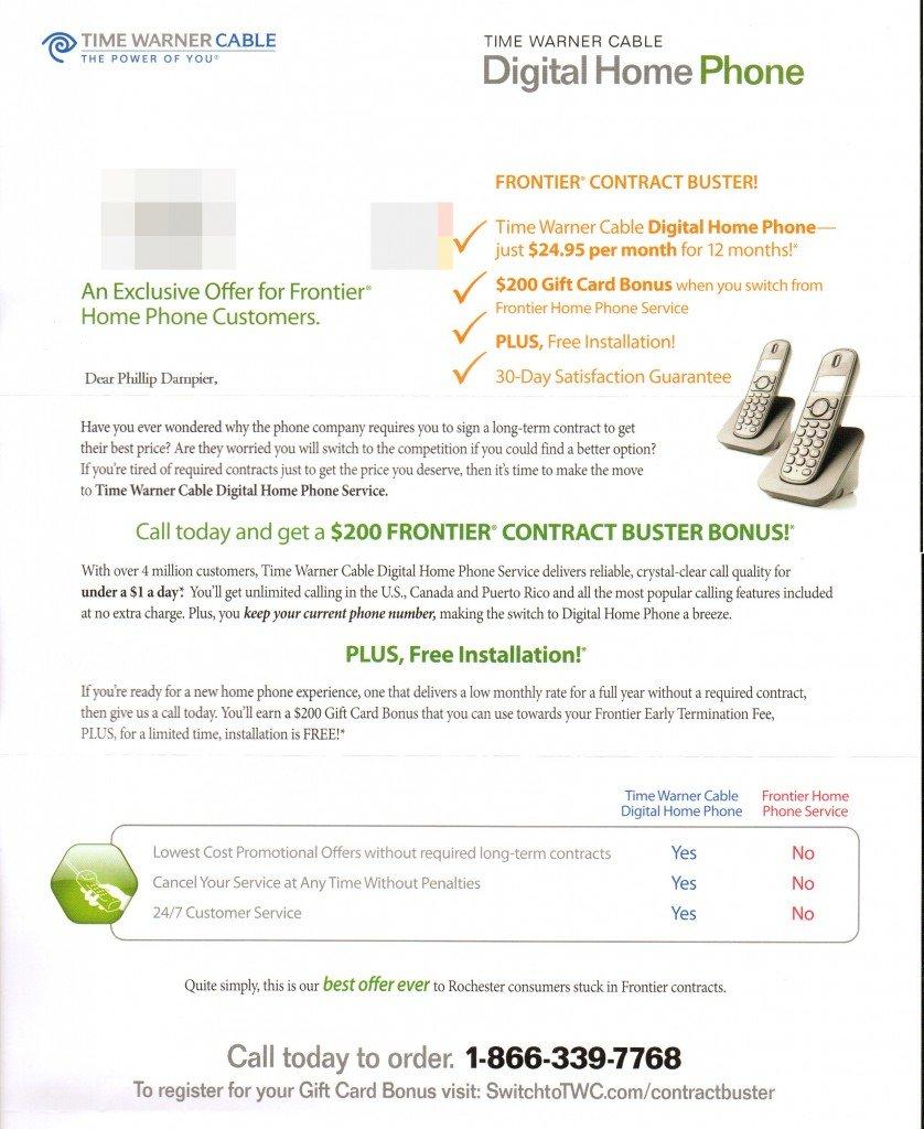 Time Warner Home Telephone Service | Flisol Home