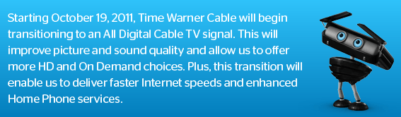 Time Warner Cable Starts the Transition to All-Digital Cable