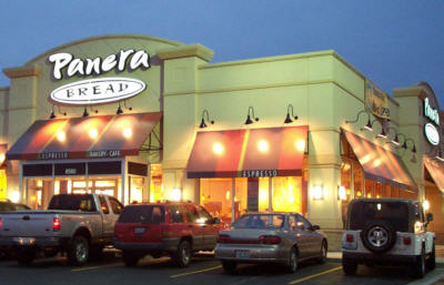 Panera Bread http://stopthecap.com/2012/05/17/panera-bread-stores-overloaded-with-wi-fi-users-who-wont-leave/