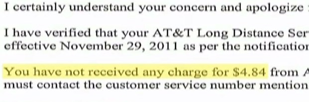 at&t customer service billing