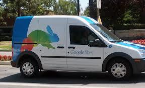 google fiber truck