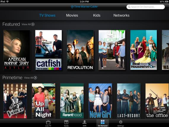 Time Warner Cable Updates Ipad App Introducing On Demand