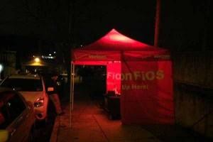 FiOS tent (Courtesy: J. Chakars/WHYY NewsWorks)