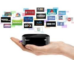 The Roku set top streaming device.