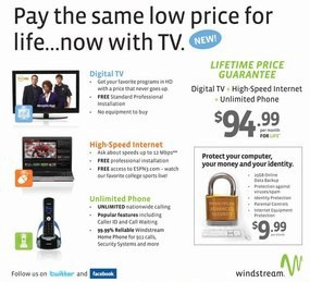 "Windstream plans to bring back its ""price for life"" promotion this year."