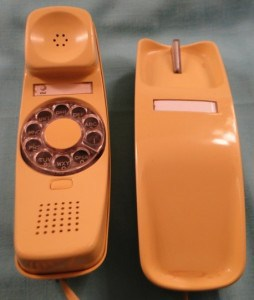 Cablevision's yesteryear marketing: As outdated as this Harvest Gold Trimline phone.