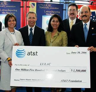 'Your money is good here, whether it comes from AT&T or the cable industry.' -- LULAC