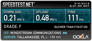 windstream speedtest