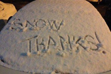 A freak spring snowstorm has stolen CenturyLink's thunder.