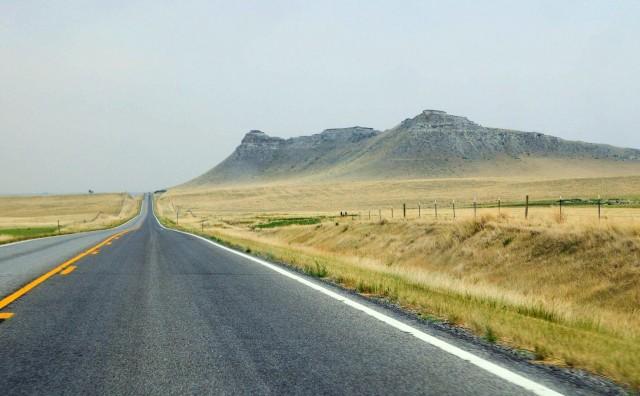 Verizon's road to no bars in rural Montana.