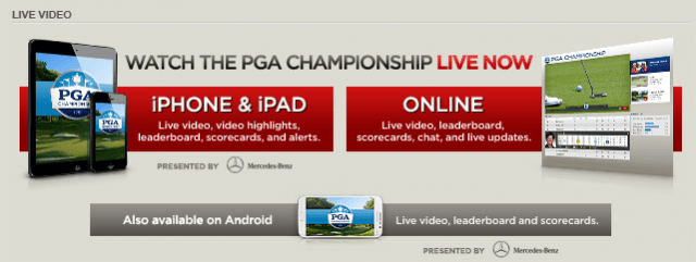 The PGA is offering a way for golf fans to watch the PGA Championship online, bypassing the CBS-TWC dispute.