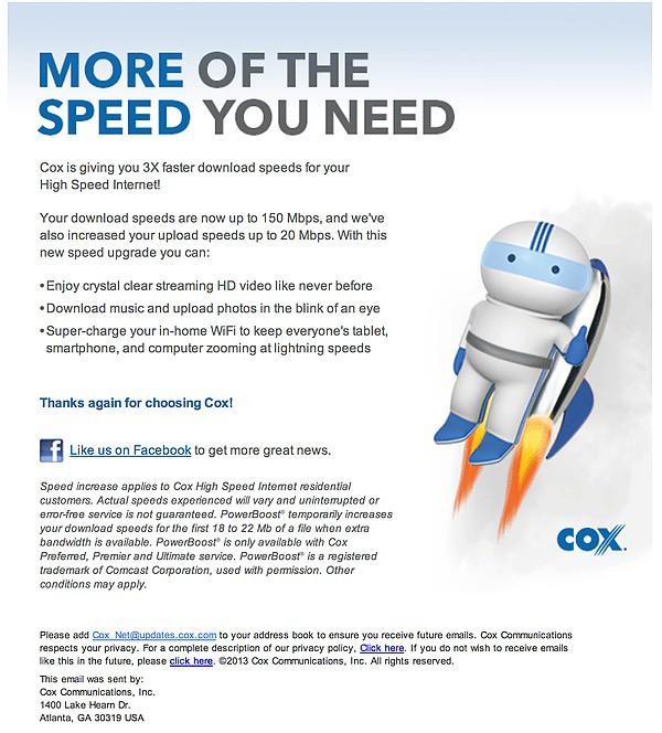 cox speed