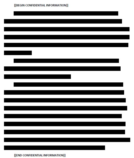 "Verizon gets out the black marker to redact information in declares ""confidential."""