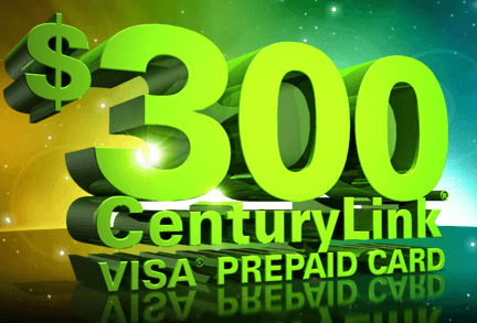 CenturyLink offers a $300 rebate to new customers.
