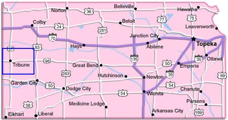 Tribune, Kansas is the county seat of Greeley County.