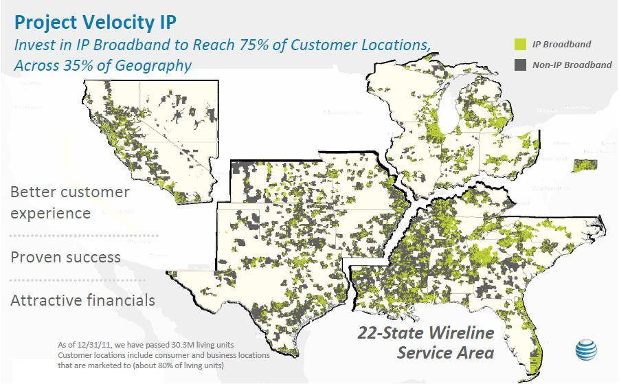 If your community isn't highlighted on this map, AT&T has a wireless-only future in store for you.