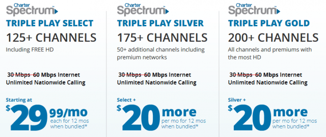 spectrum packages