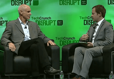 Neil Smit, CEO Comcast Cable (left), Ryan Lawler, TechCrunch (right)