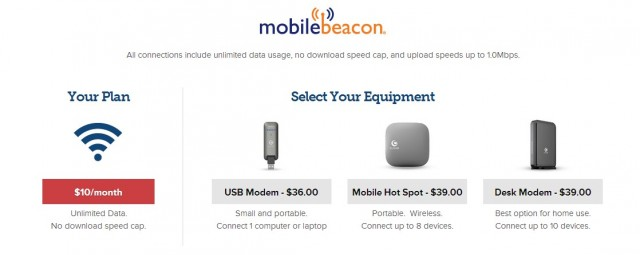 Mobile Beacon, like FreedomPop, uses the Clear WiMAX network at the moment.
