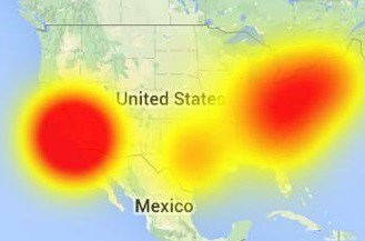 This outage map illustrates this morning's service disruption at Time Warner Cable.