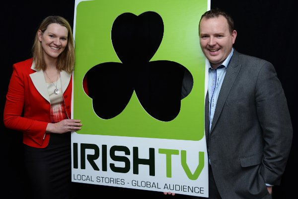 Mhaoilchiaráin and O'Reilly launch Irish TV (Image: Picture: Frank Dolan )