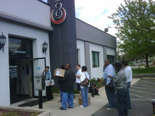 Marco S. was so frustrated by the line running outside of his local Comcast store, he snapped this photo. At least the weather was nice.