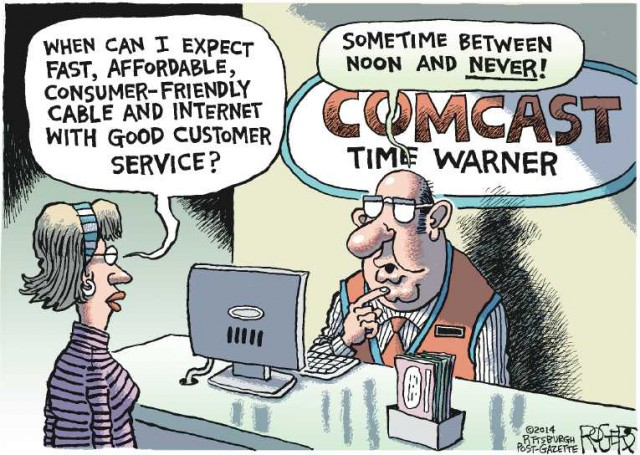 comcast service cartoon