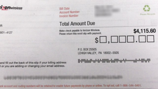 verizon bill