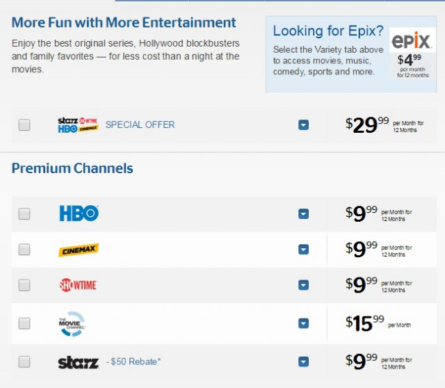 Are you overpaying for premium movie channels? If you are paying more than this, you are.