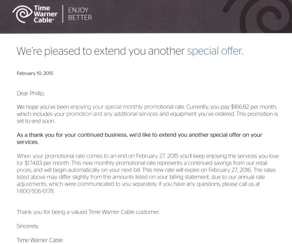 Time Warner Cable Quote: Time Warner Deals For Existing Customers