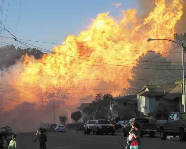 The San Bruno gas pipeline explosion.