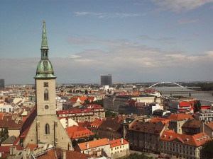 The city center of Bratislava