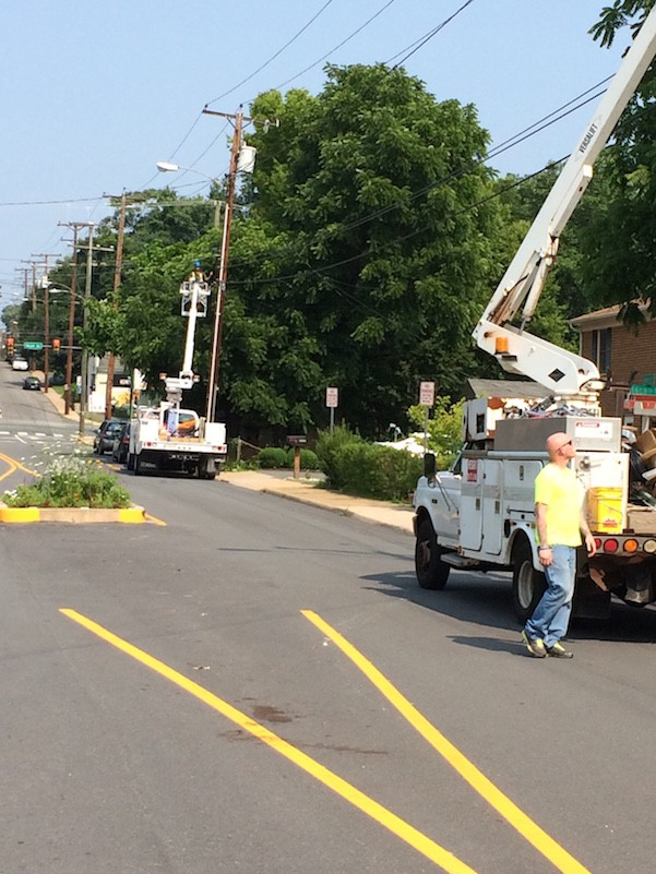 Ting workers installing fiber optics in Charlottesville, Va.