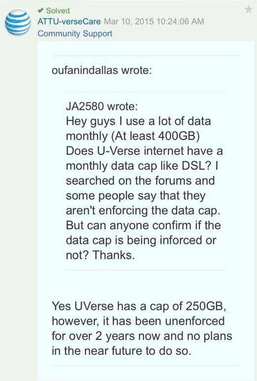 uverse caps