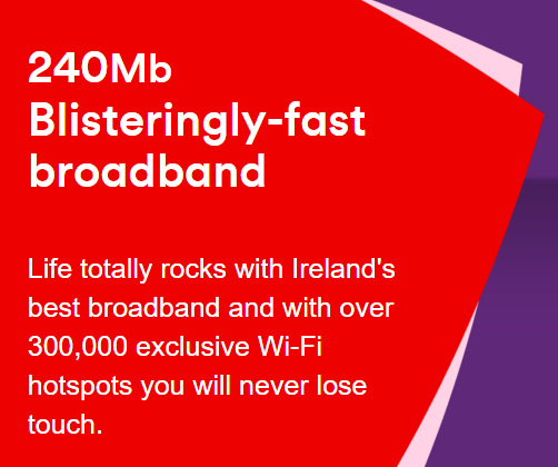 Irish cable competitor UPC (now Virgin Media) sells a package of 240Mbps broadband with an unlimited calling landline for around $50 a month.