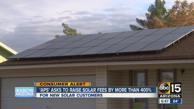 Utility giant APS will approach the Arizona Corporation Commission to win a 400% rate hike on special fees for solar panel users.