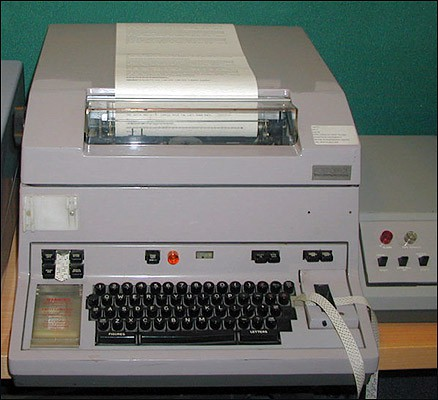 A Telex machine in use during the 1970s.