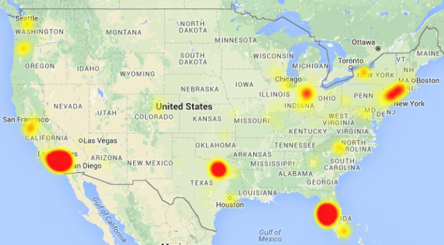 As of late Monday afternoon, Downdetector.com still shows widespread outages for Frontier customers in North Texas, western Florida and parts of California.