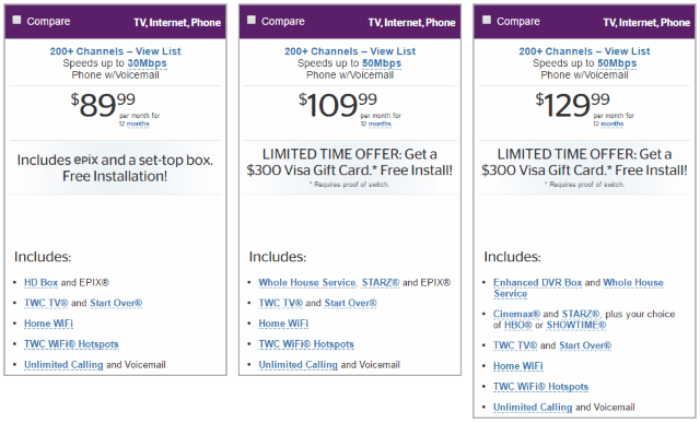 Charter Cable Packages >> Charter bundle deals for current customers - Samurai blue coupon