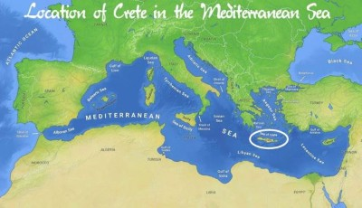 Crete is an island and part of the territory of Greece.