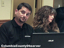Rapid Systems CEO, Dustin Jurman and CFO/VP Denise Hamilton. (Image: Columbia County Observer)