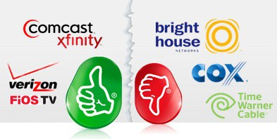 ZatzNotFunny rates TWC, Bright House and Cox as unfriendly to alternative set top boxes like TiVo. (Image: ZatzNotFunny)