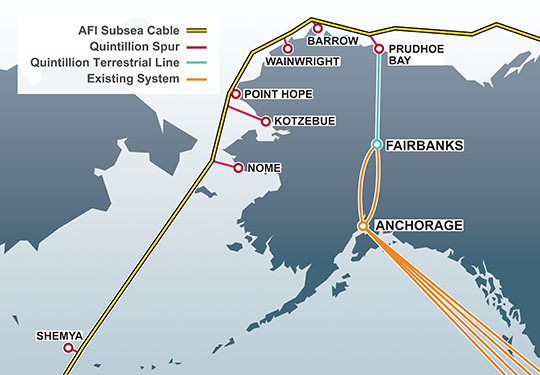 A new fiber provider is expected to vastly expand Alaska's internet backbone, but there are not enough middle mile networks to allow all Alaskans to benefit.