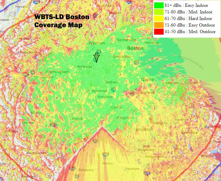WBTS-LD Coverage Map