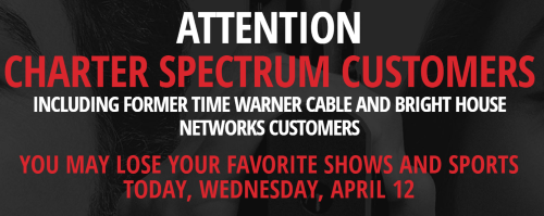 Fox-Charter Showdown -- Charter/Spectrum Customers Could