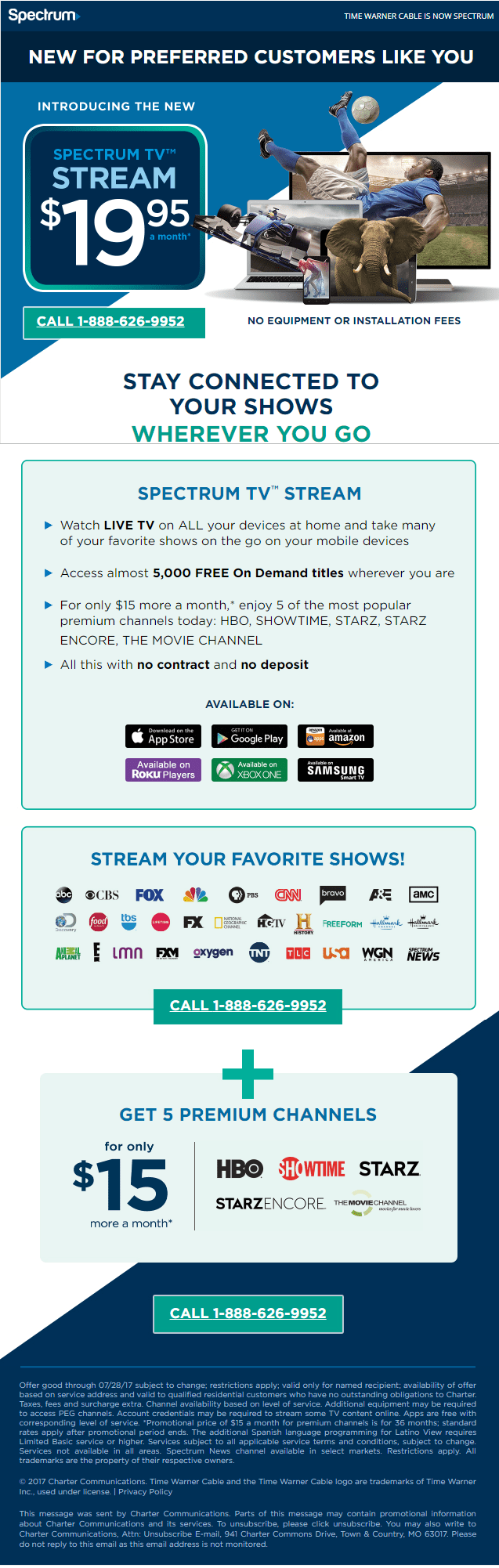 Charter Cable Packages >> Charter Spectrum Introduces $19.95 Sports-free Online Cable TV Alternative