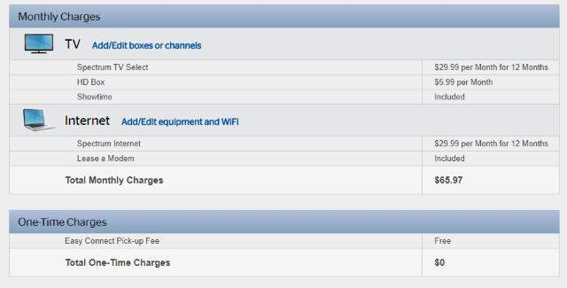 Spectrum Starts $65 Broadband/125 Channel TV Promotion to ...
